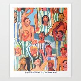 Gran tribuna (detalle) by Diego Manuel Art Print