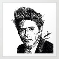 niall horan Art Prints featuring Niall Horan by Hollie B
