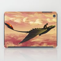 hiccup iPad Cases featuring Flying - Hiccup and Toothless by BBANDITT