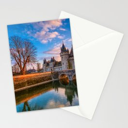 Sully sur Loire at sunset, Loire valley, France. Stationery Cards