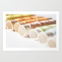 sewing Art Prints featuring Sewing by MarianaLage