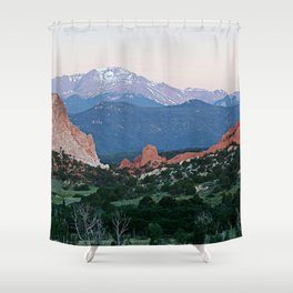 Sunrise at Garden of the Gods and Pikes Peak Shower Curtain