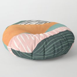 Modern irregular Stripes 02 Floor Pillow