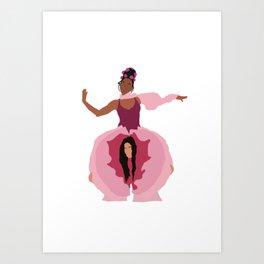 Pynk Minimalist: Janelle Monae & Tessa Thompson Art Print