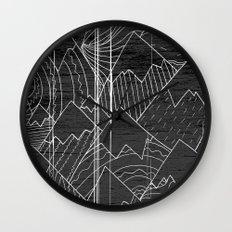 Paintbrush Mounts Wall Clock