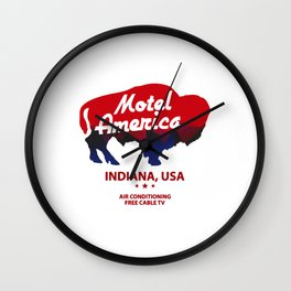 america  motel Wall Clock