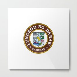flag of Davao, Philippines Metal Print