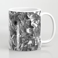 heavy metal Mugs featuring Heavy Metal Crush by BruceStanfieldArtist.DarkSide