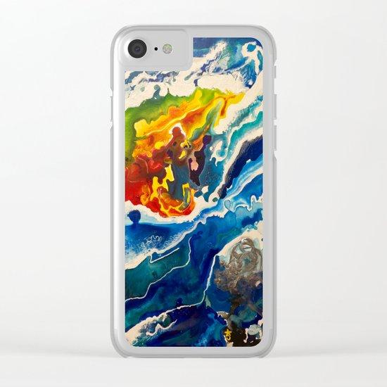 Deep Sea Rainbow Clear iPhone Case