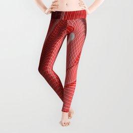 Red waving mathematical surface Leggings