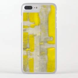 Stasis Gray & Gold 4 Clear iPhone Case