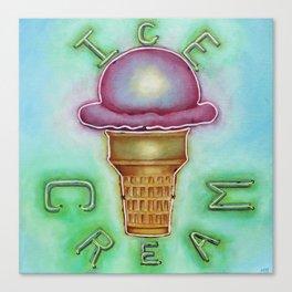 Neon Ice Cream Canvas Print