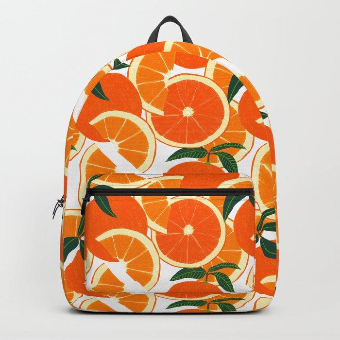 Orange Harvest - White Rucksack