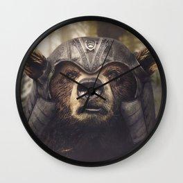 Armored Bear Companion Wall Clock