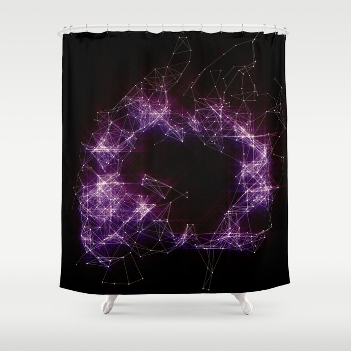 Artificial Constellation Shower Curtain