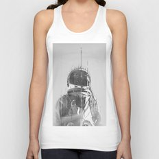 The Space Beyond B&W Astronaut Unisex Tank Top