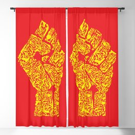 The Hand of Revolution Blackout Curtain
