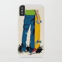 skate iPhone & iPod Cases featuring skate by the lazy pigeon