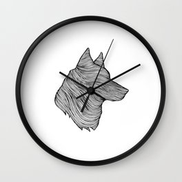 THE WOLF Wall Clock