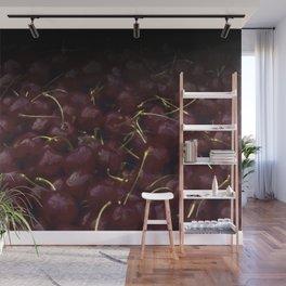 cherries pattern hvhdfn Wall Mural