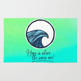 Home is where the waves are Rug