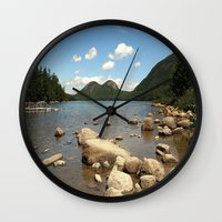 maine Wall Clocks featuring Maine by Raymond Earley