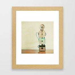 Tower of Cameras Framed Art Print