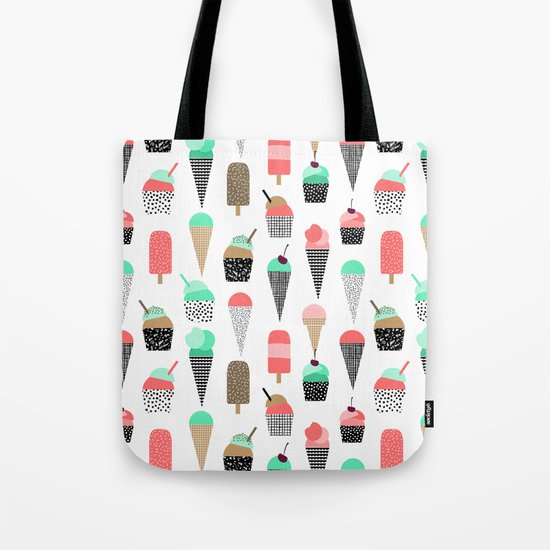 Ice Cream - Summer fresh modern minimal print pattern design gifts for college  Tote Bag