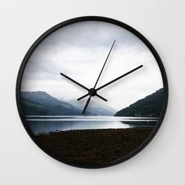 Panoramic view over Gare Loch Argyll and Bute Scotland Wall Clock