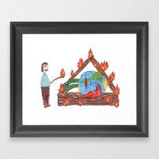 Mundinho - Burn Framed Art Print