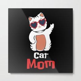 Cats Mom Cute Cute Shirt Design Metal Print