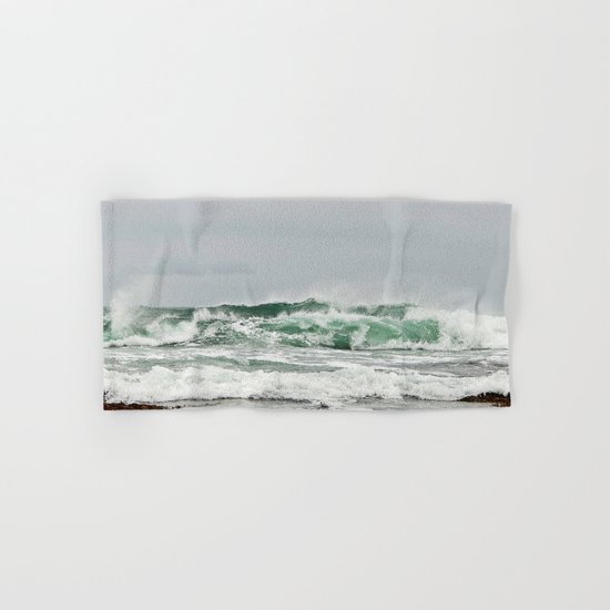Explosive Green Surf of the St-Lawrence Hand & Bath Towel