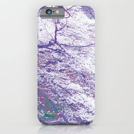 Purple Cherry Blossom iPhone Case