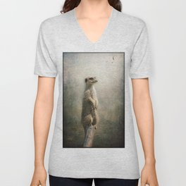 The Watcher on the post... Unisex V-Neck