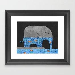 Thirsty Elephant  Framed Art Print