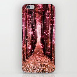 Magical Forest Vibrant Pink Living Coral iPhone Skin