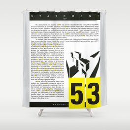 cry me a typography river — 53 gaps ( infographic ) Shower Curtain