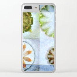 Lignin Spacing Flowers  ID:16165-040505-07411 Clear iPhone Case