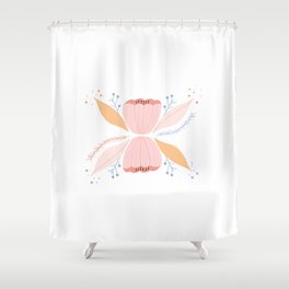 Poppies Floral Pattern Shower Curtain