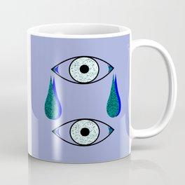 2 Eyes crying blue & green Coffee Mug