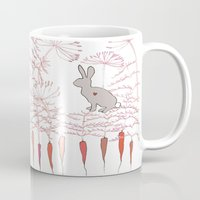 rabbits Mugs featuring Rabbits by Fay's Studio