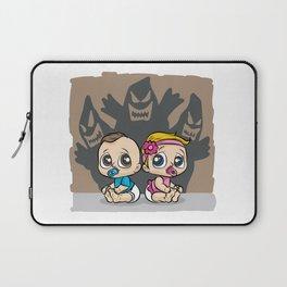 BABY HAUNTED BY GHOST Nightmare Babies Spooky Laptop Sleeve