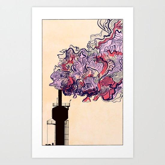 Smokestack - Colour Art Print