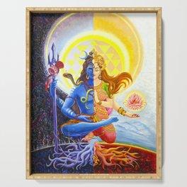 Shiva and Shakti Serving Tray