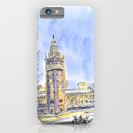 Kansas City The Plaza Lights in winter iPhone Case