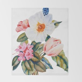 Loose Spring Bouquet Throw Blanket