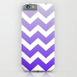 Preppy romantic trendy geometric pattern summer lilac lavender purple ombre chevron  iPhone Case