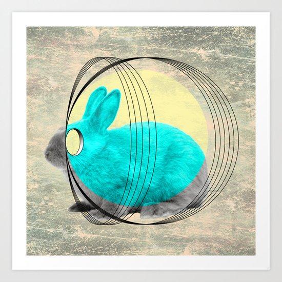 hypnotic rabbit Art Print