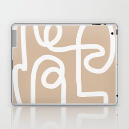 beige squiggle Laptop & iPad Skin