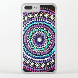 Dotted Mandala Clear iPhone Case